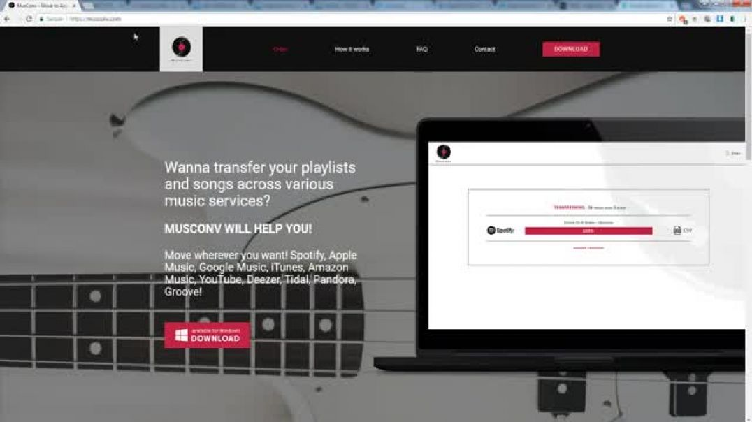 MusConv.com - move your music wherever you want