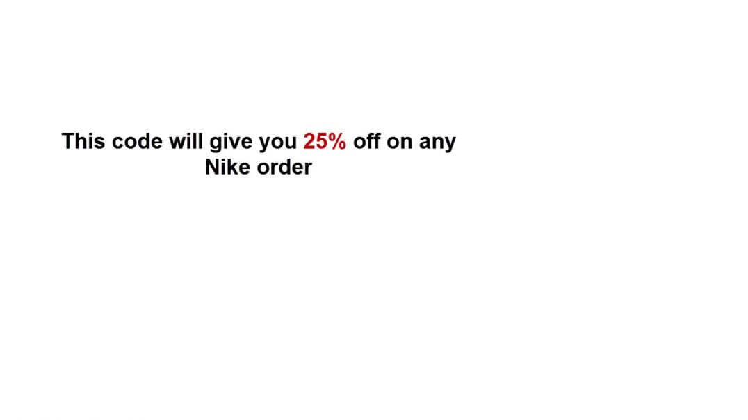 BULK BUY 10  Nike 25 UK EU Discount Codes.mp4