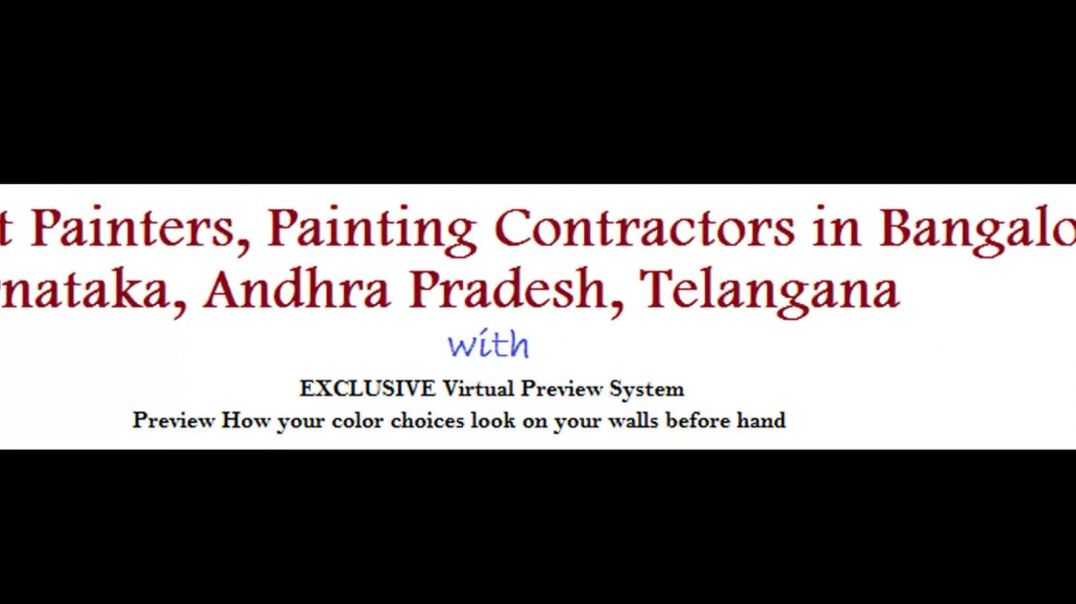 Painting Contractors in Bangalore, Mysore, Hyderabad, India