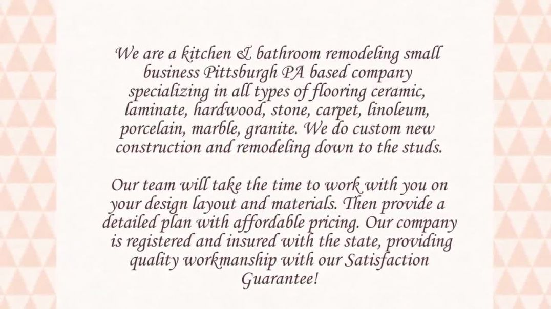 AD Tile Fitters Remodeling Bathrooms & Kitchens in Pittsburgh PA.mp4
