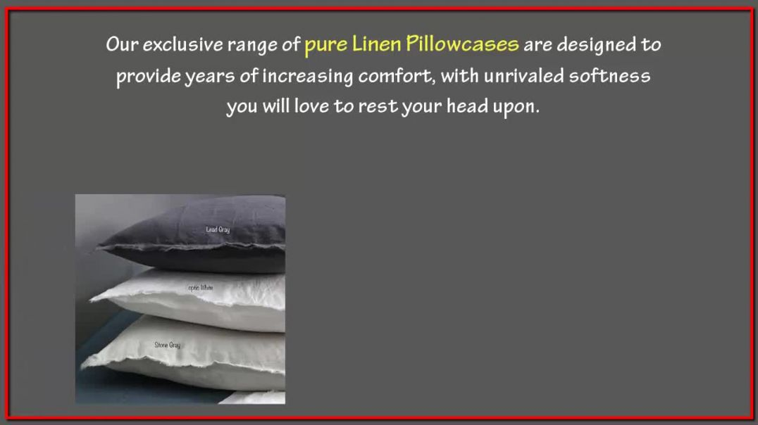 Exclusive Pure linen Pillowcases By Linenshed Australia.mp4