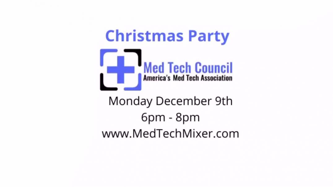 Christmas Party next Monday on December 9th for the Med Tech Council! You're invited!
