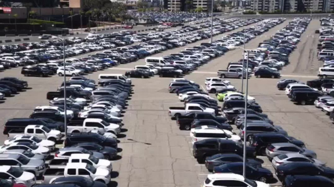 Unused Rental Cars at Anaheim Stadium