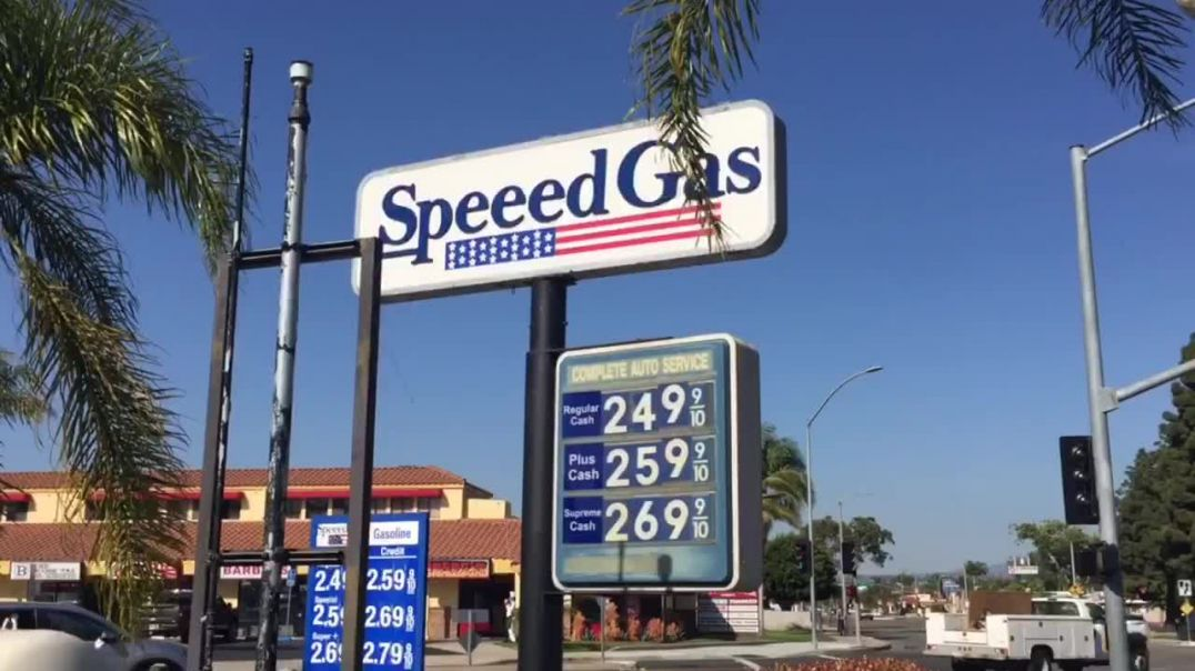 Wow. Very cheap gas in Tustin, California