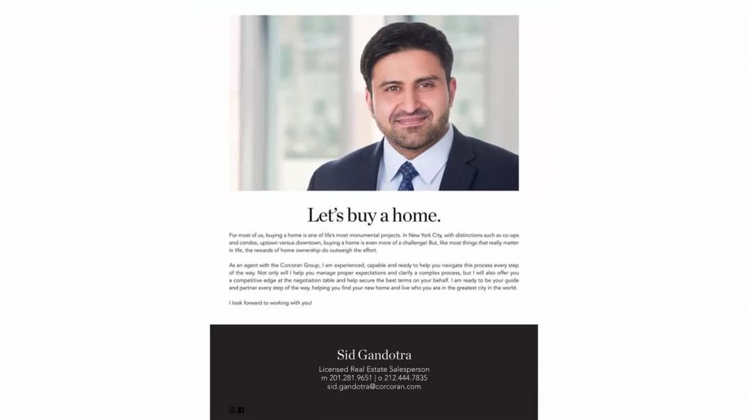 NYC Buyers Guide | Sid Gandotra Corcoran Group