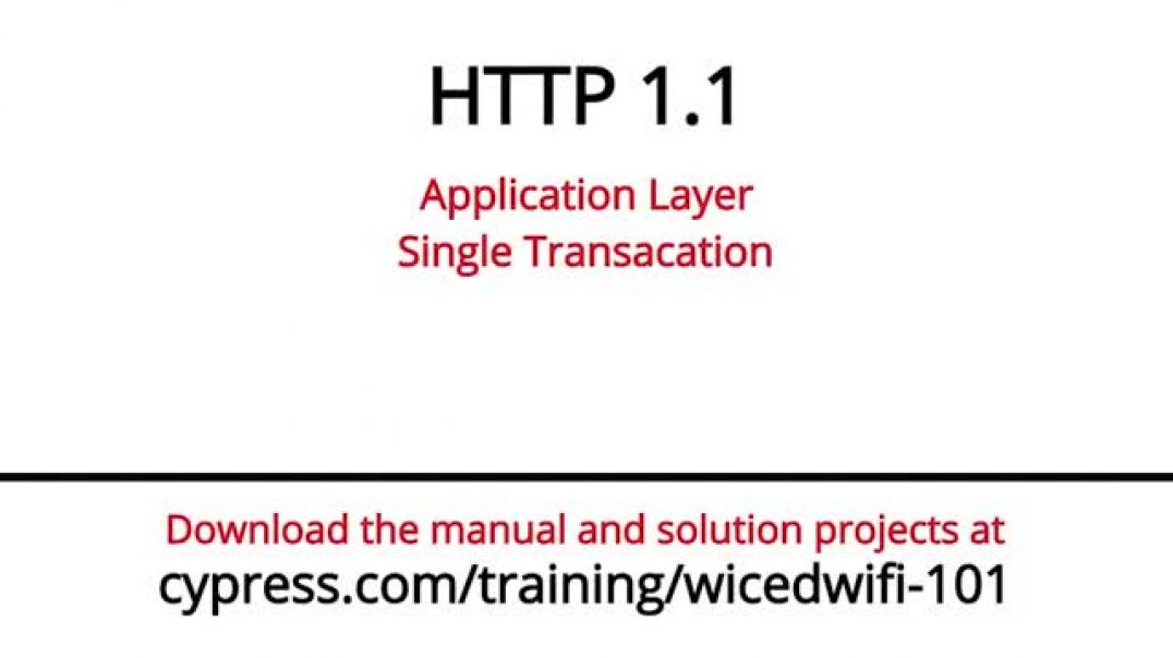 Cypress: WICED Wi-Fi 101: Lesson 7-2: HTTP Library