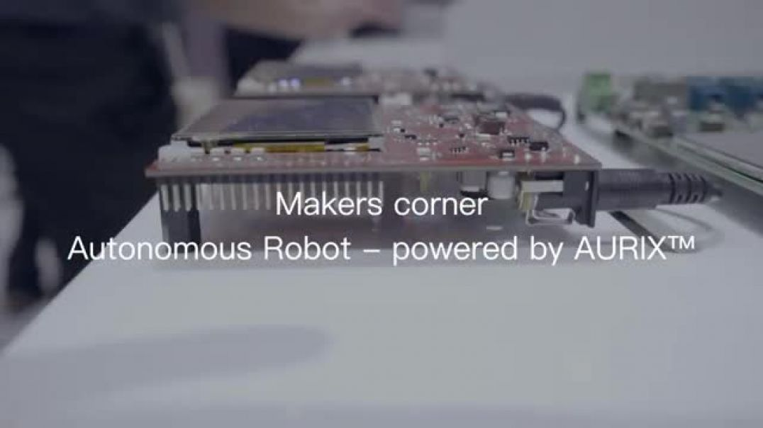 Infineon: AURIX Autonomous Robot, navigates using ultrasonic sensor